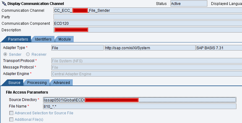 File to File Scenario without IR (ESR) Objects - SAP