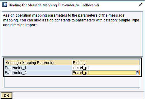 Bind Message Mapping parameters with Operation Mapping Parameters