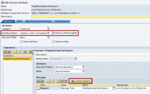 Assign Context Object to Outbound Service Interface. Only compatible with Interface Pattern 'XI30 - Compatible'