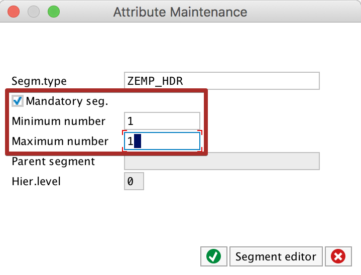 Configure iDoc segment maximum and minimum occurrences in we30