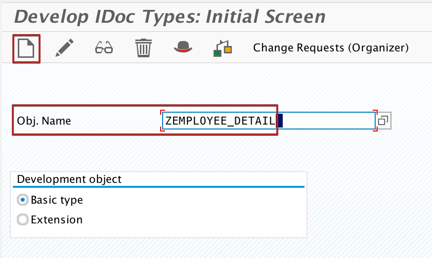 Create new custom iDoc Type in transaction we30