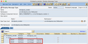 Create sender message type in ESR