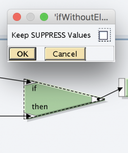 Keep SUPPRESS values are disabled in if function