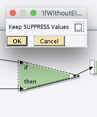 Keep SUPPRESS values property is disabled in IF-THEN function