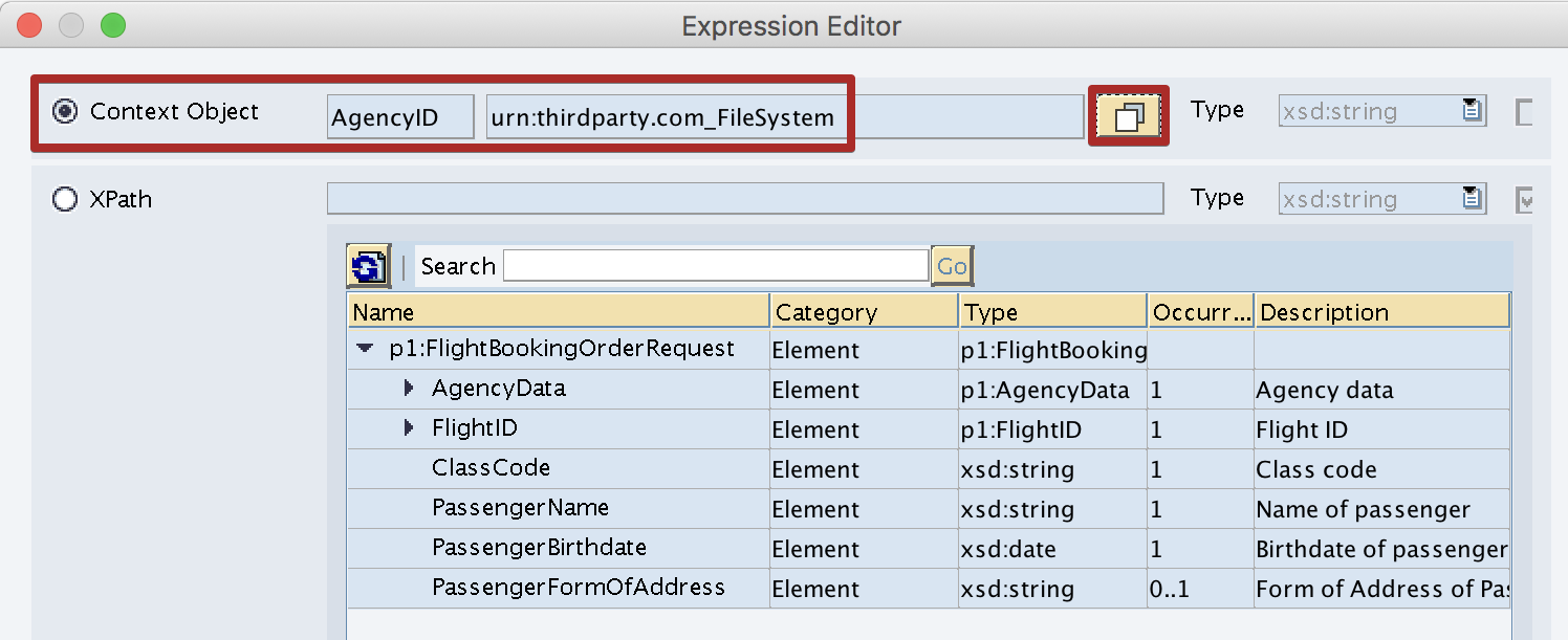 Use Context Object AgencyID in Content Based Condition in Expressions Editor