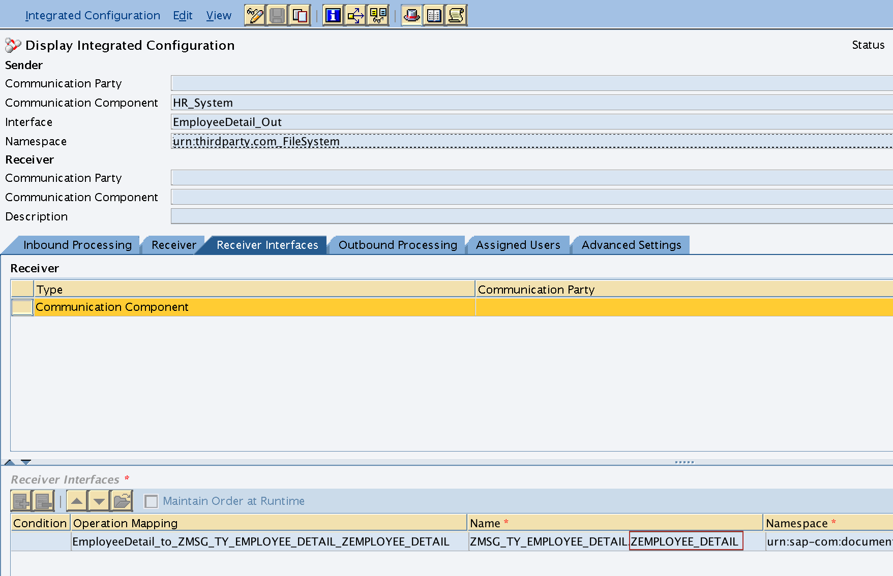 Control Record parameter iDoc Type IDOCTYP set from the interface name