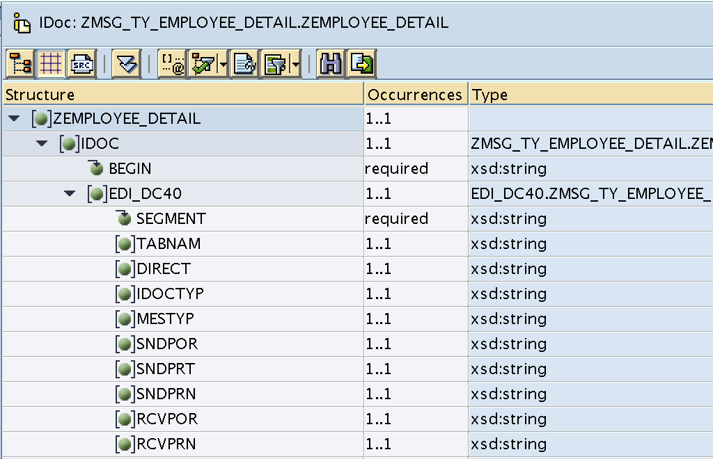Required fields of the iDoc target structure control records are mapping with a blank value