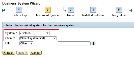Select Technical System Detail like System and Client