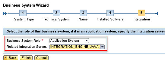 Select the Integration Server of the Business System from the drop down