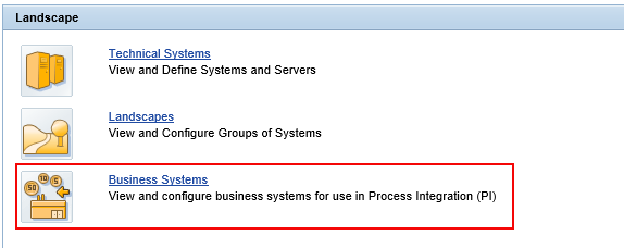 Select Business Systems under SLD