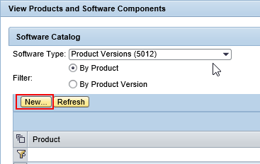 select 'New' under Products