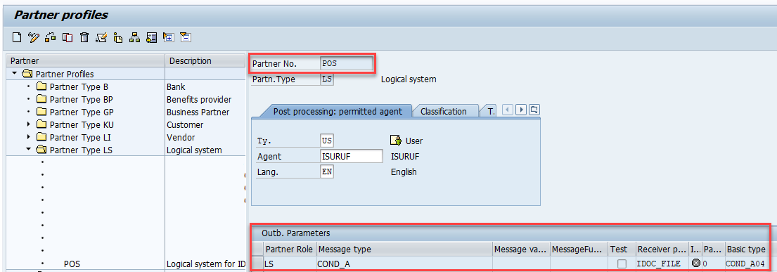 configure partner profile in we20