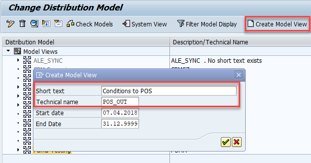 Create model view for COND_A outbound