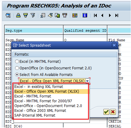 download iDoc to different file formats