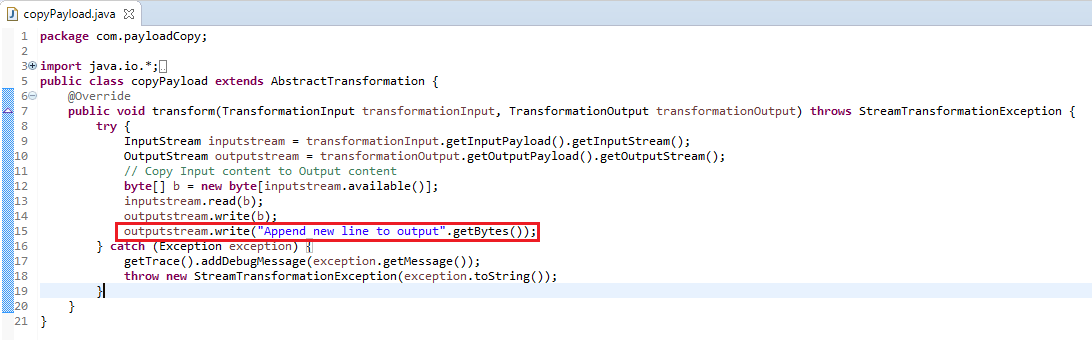 Edit Java Class of the Imported Archive in NWDS