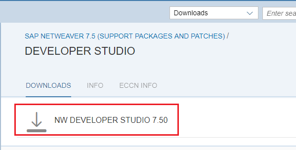 Download NWDS from the SAP marketplace using S user access