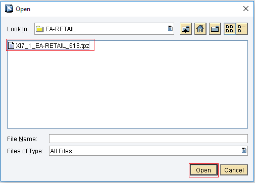 Select tpz file from client
