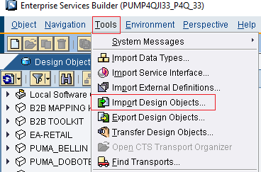 Import .tpz file to ESR using Import Design Objects