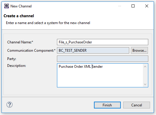 Sender Communication Channel Name and Description for iFlow generation
