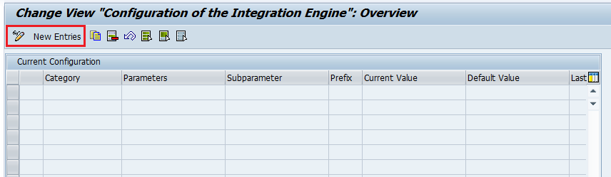 Add new entries to SXMB_ADM Integration Engine Configuration using button.