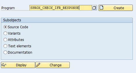 Test ESR connectivity using program SPROX_CHECK_IFR_RESPONSE.