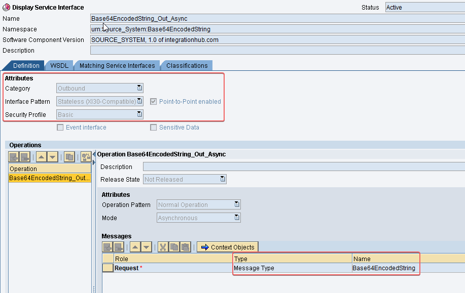 Outbound Service Interface for base64 decode scenario in SAP PI ESR.