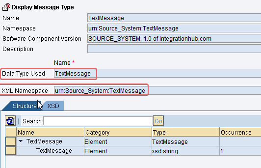 Sender message Message Type for base64 java mapping implementation SAP PI in ESR