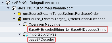 base64 object list in ESR. SWCV, namespace, imported archives and operation mapping.