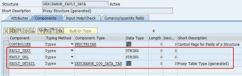 Exchange Fault Message DDIC structure in SAP back-end
