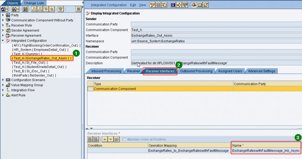 How to find the Receiver inbound service interface via ICO in ESR in SAP PI swing client