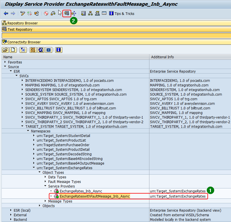 Execute Service Provider to Test/Debug ABAP proxy in SPROXY transaction