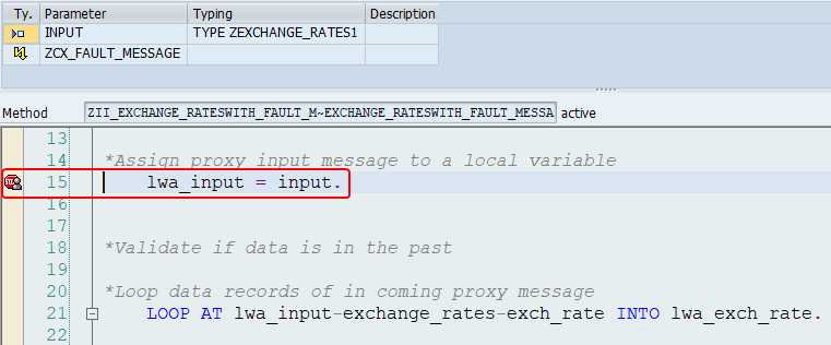External debugging breakpoint set in ABAP editor