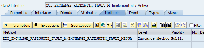 Method of Implementing ABAP class of the Service Provider