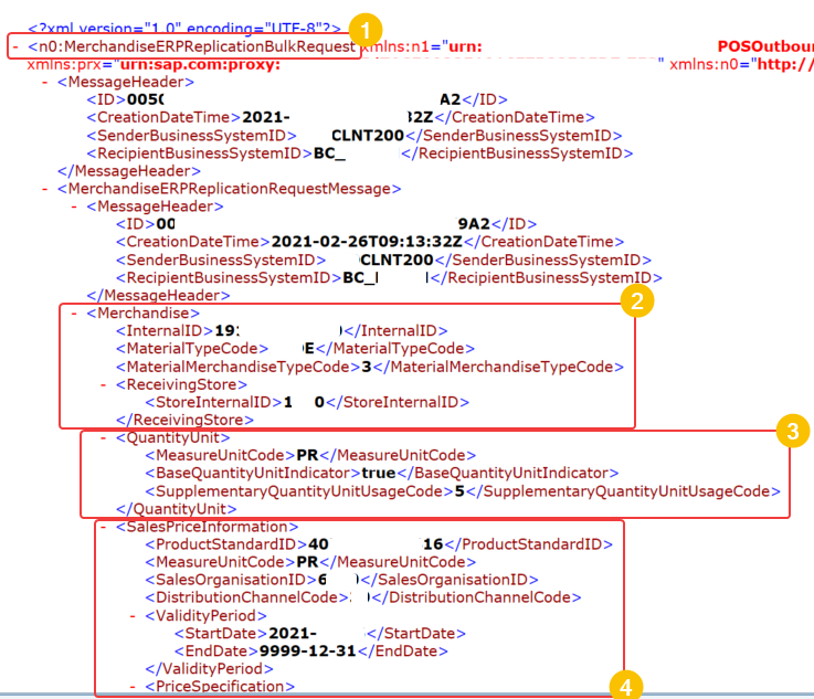 XML of the message generated by WESOUT in SXMB_MONI